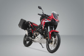 SW-MOTECH TRAX ADV Aluminium Case System for HONDA CRF1100L Africa Twin (Black) (KFT.01.950.70000/B)