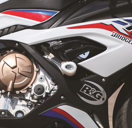 R&G Crash Protectors - Aero Style for BMW S1000RR '19- (Race Kit) (CP0471BL/CP0471WH)