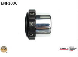 Kaoko Throttle Stabilizer For Royal Enfield 350cc and 500cc '11-, Thunderbird , Models With Chromed OEM Bar End Weights