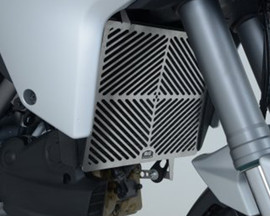 R&G Stainless Steel Radiator Guard for Ducati Multistrada 1200/S '10-'14 (Not Grantourismo) (SRG0002SS)