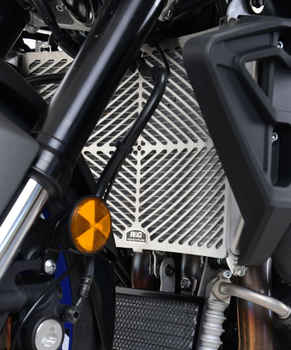 R&G Stainless Steel Radiator Guard for the Yamaha YZF-R1/R1M 2015- and Yamaha MT-10 '16- (SRG0036SS)