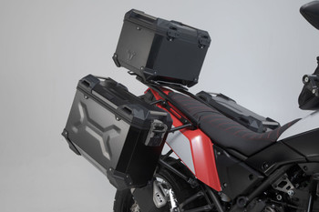 SW-MOTECH TRAX Adventure Luggage Set for Yamaha Tenere 700 19- Silver