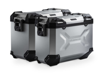 SW-MOTECH TRAX ADV Aluminium Side Case System for HONDA CRF1100L Africa Twin Adventure Sports (Silver)