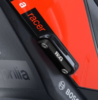 R&G Rear Foot Rest Blanking Plate Kit for the Aprilia RSV4 (all models) '09-, Tuono V4 (all models) '11-, RS660 '21- & Tuono 660 '21-