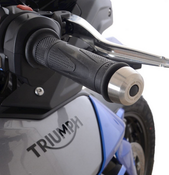 R&G R&G Stainless Steel Bar Ends for the Triumph Tiger 850 Sport '21- (no handguards) & Speed Triple 1200 RS '21- (With Mirrors) (BE0161SS)