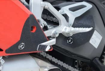 R&G Boot Guard Kit for Ducati Panigale 1199 '12- and the Panigale 1299 '15- (EZBG203BL)