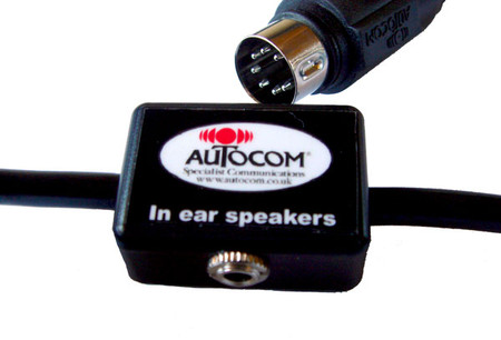 AUTOCOM STRAIGHT EXTENSION LEAD WITH 3.5MM SOCKET FOR IEM/'s Part No. 2129
