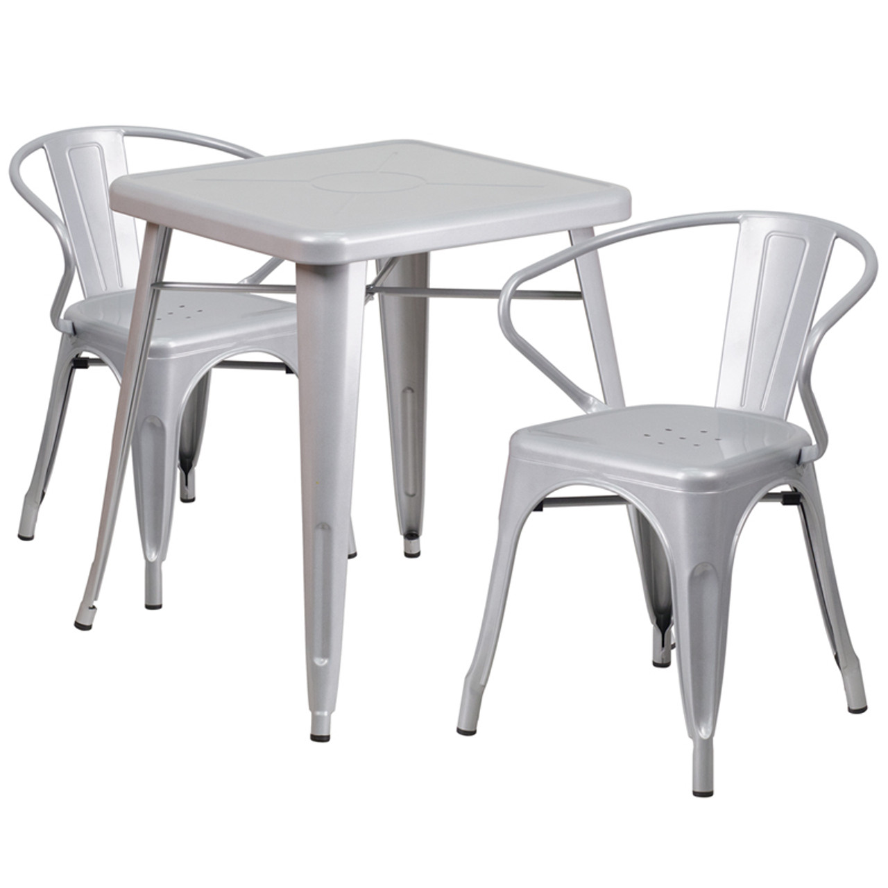 Metal Colorful Table and Chair Sets