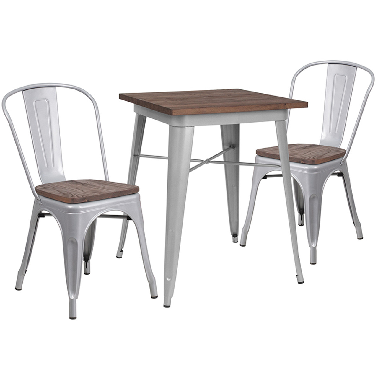 Wood Colorful Table and Chair Sets