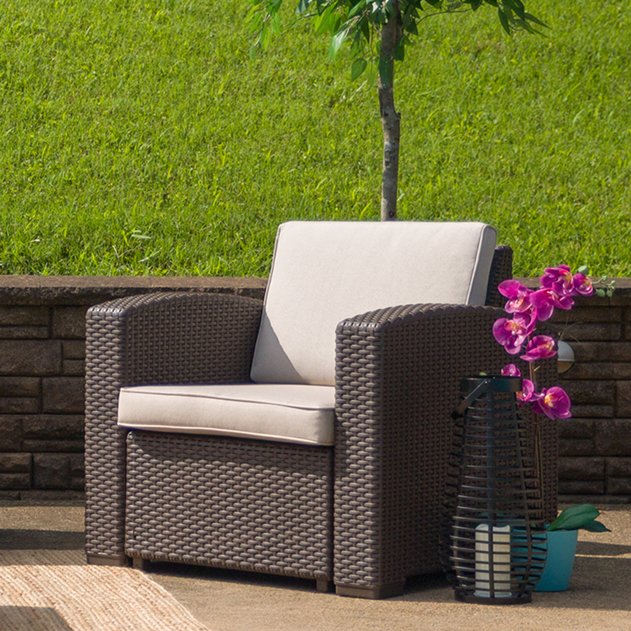 Plastic Rattan Patio Chairs