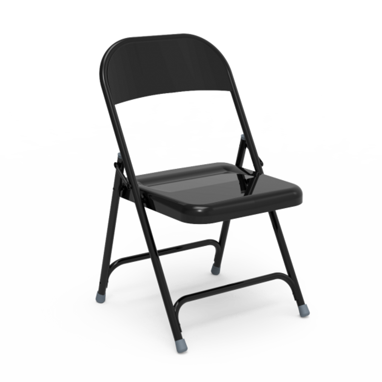 162 Series Steel Folding Chair Char Black Frame Set Of 4 Chairs