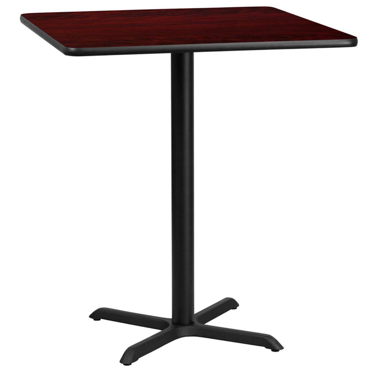 """30/"""" Square Mahogany Laminate Table Top With Base Table Height Restaurant Table"""
