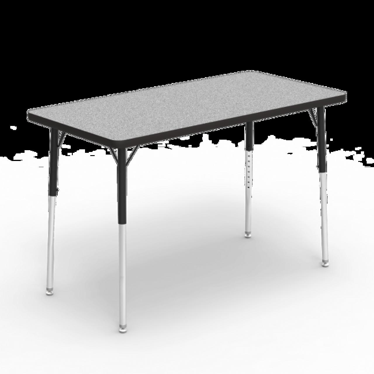 4000 Series 24 X 48 Rectangle Activity Table Grey Nebula Top Char Black Edge Char Black Frame Furniture Tycoon