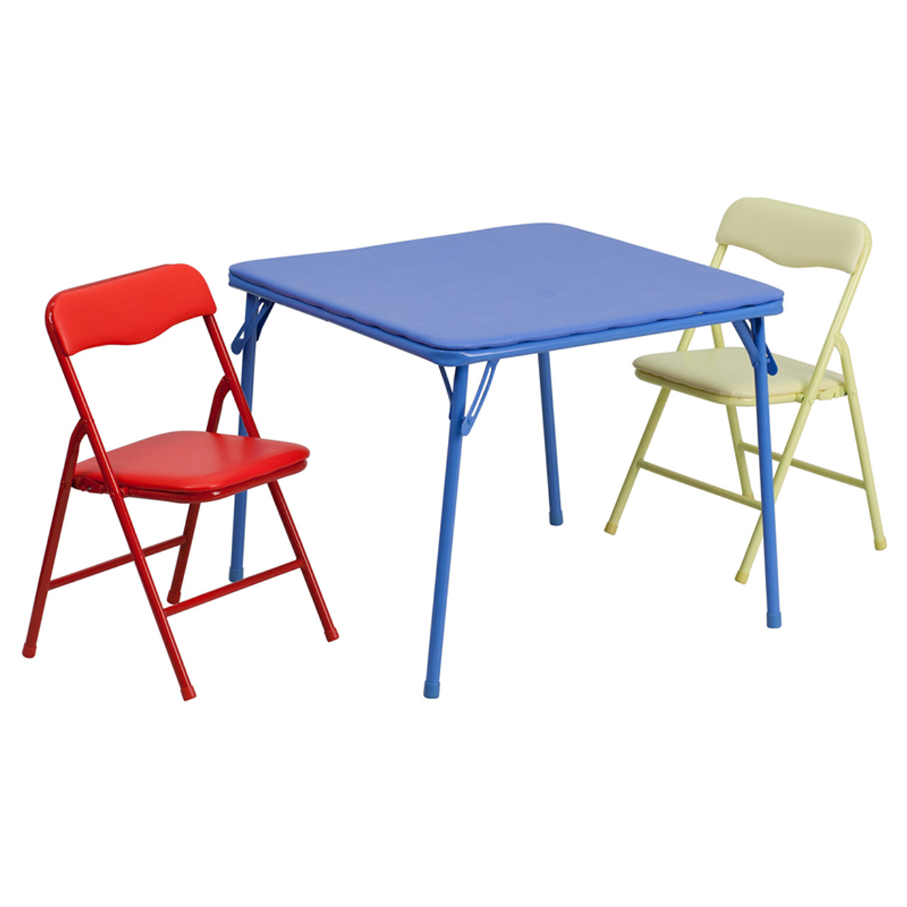 - Kids Colorful 3 Piece Folding Table And Chair Set