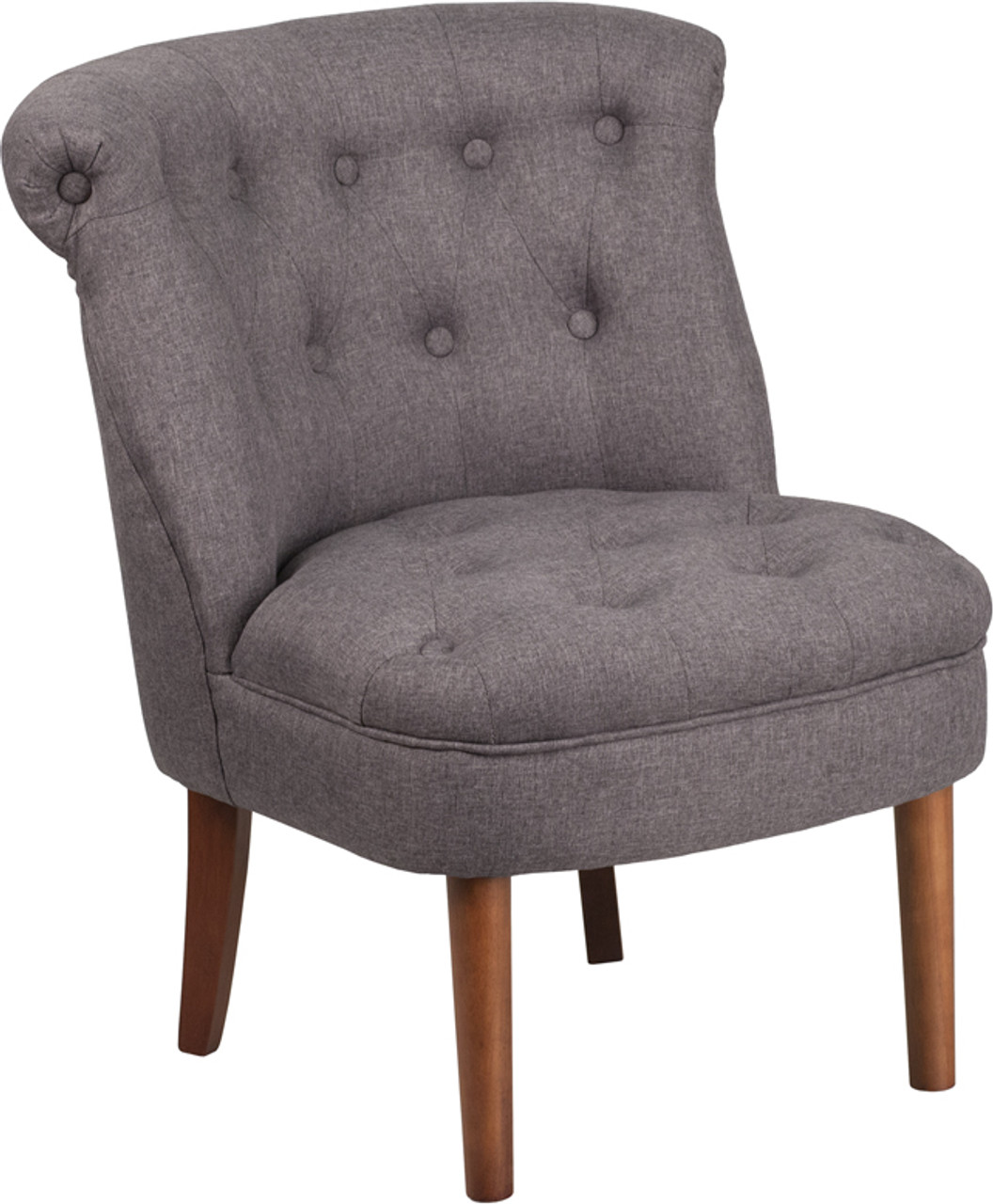 Tycoon Kenley Series Gray Fabric Tufted Chair