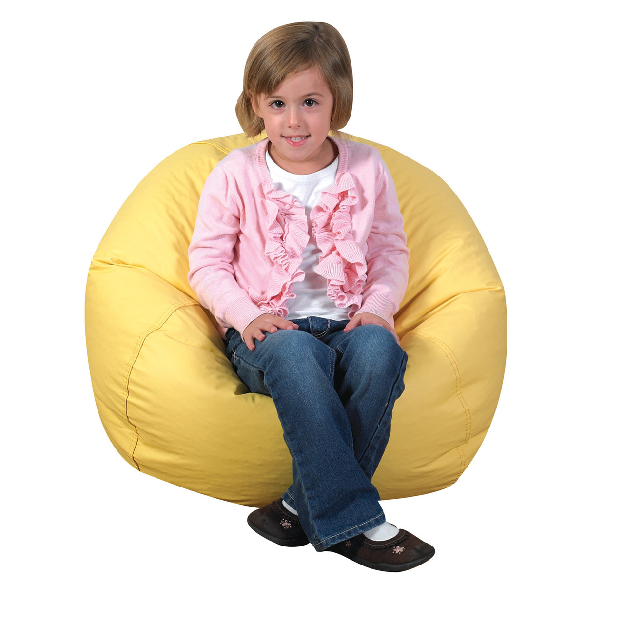 Outstanding 26 Round Bean Bag Yellow Theyellowbook Wood Chair Design Ideas Theyellowbookinfo