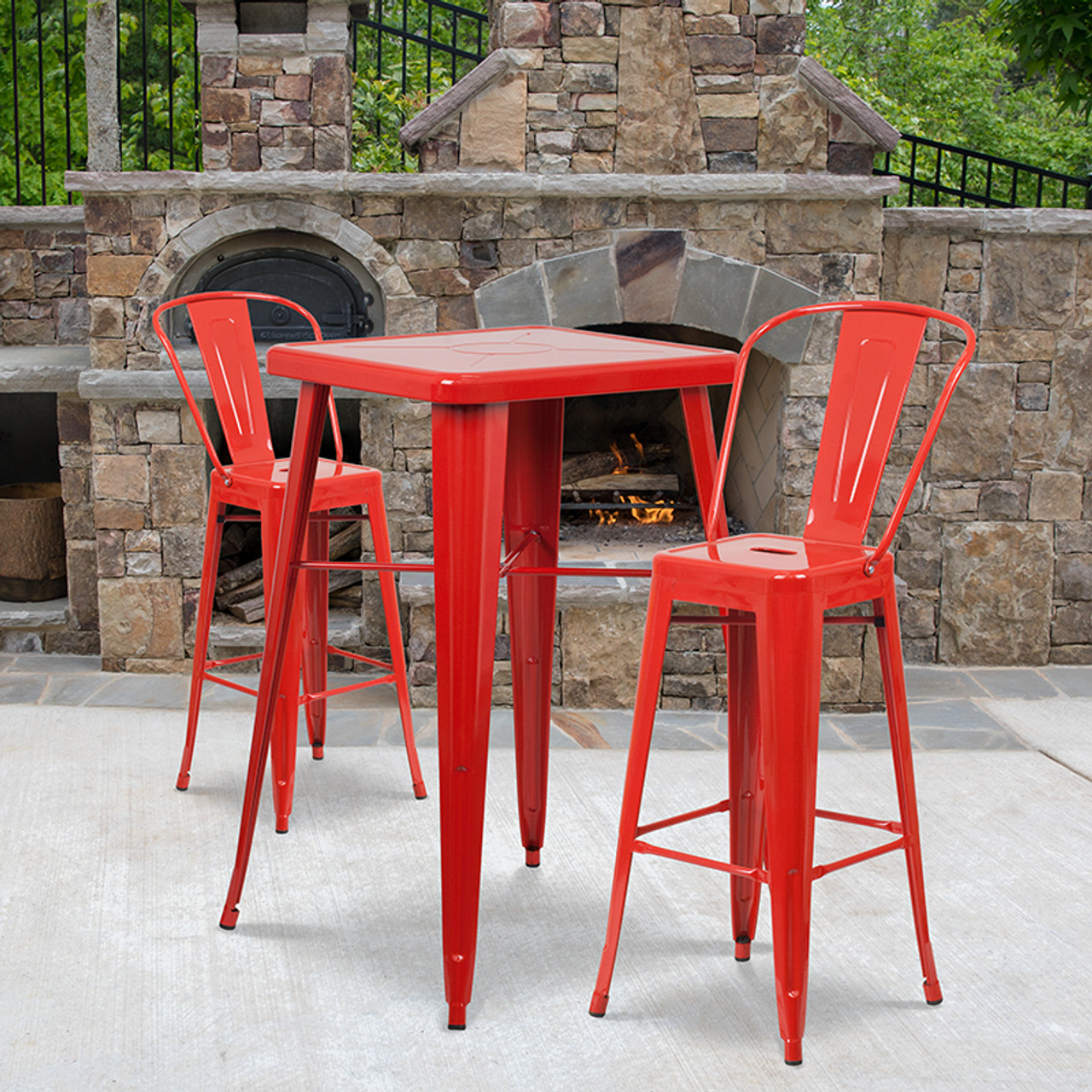 Metal Colorful Bar Table and Stool Sets