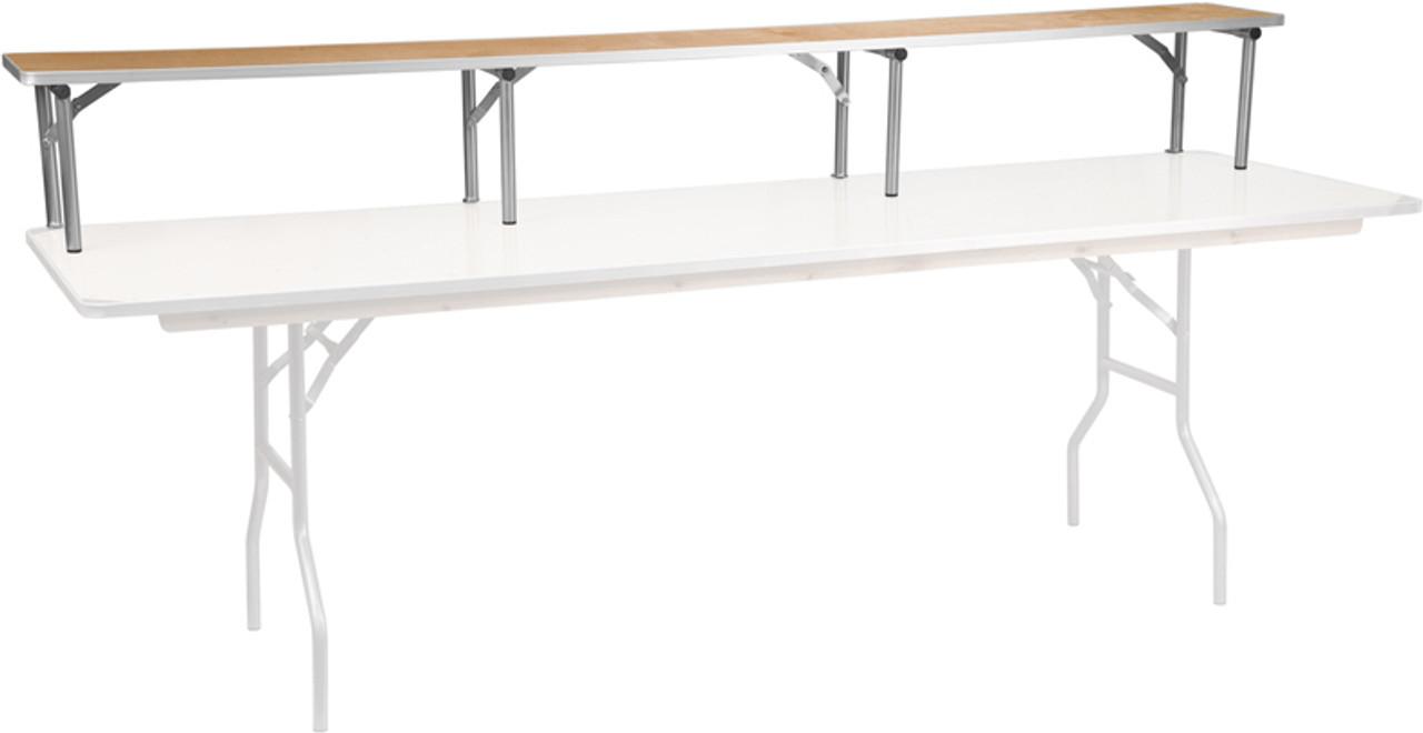 Rectangular Folding Table Bar Top Risers