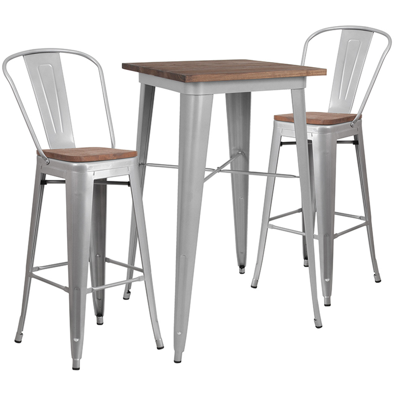 Wood Colorful Bar Table and Stool Sets