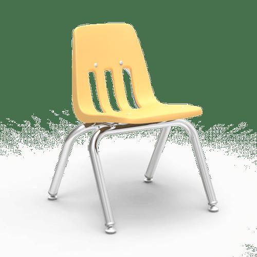 "9000 Series 12"" Classroom Chair, Squash Bucket, Chrome Frame, Preschool - 1st Grade - Set of 4 Chairs"