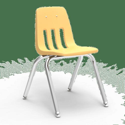 "9000 Series 16"" Classroom Chair, Squash Bucket, Chrome Frame, 3rd - 4th Grade - Set of 4 Chairs"