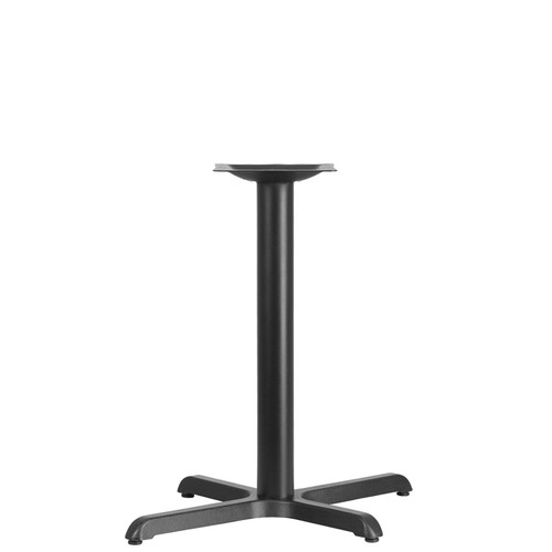 22'' x 30'' Restaurant Table X-Base with 3'' Dia. Table Height Column
