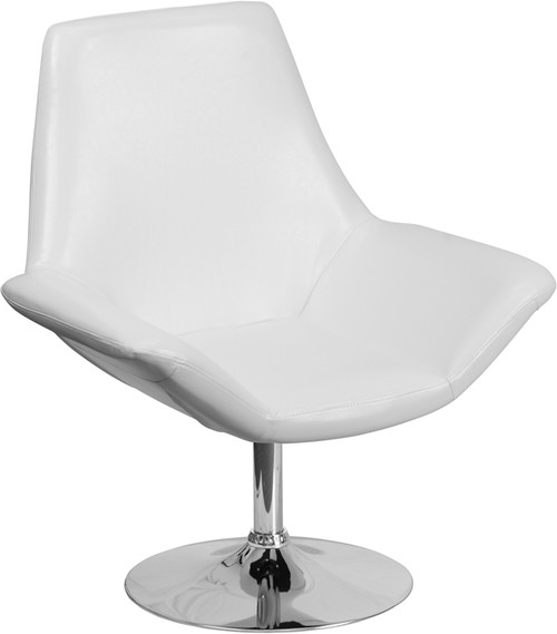 TYCOON Sabrina Series White Leather Side Reception Chair