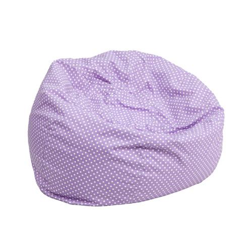 Small Lavender Dot Kids Bean Bag Chair