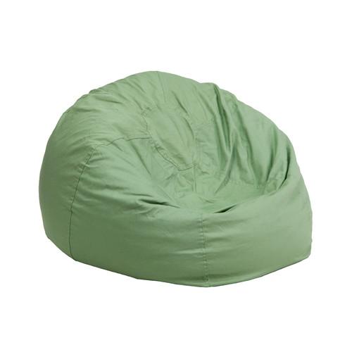 Small Solid Green Kids Bean Bag Chair