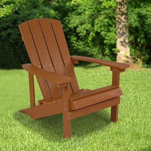 Charlestown All-Weather Adirondack Chair in Teak Faux Wood