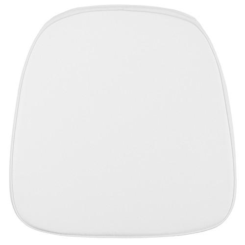 Soft Snow White Fabric Chiavari Chair Cushion