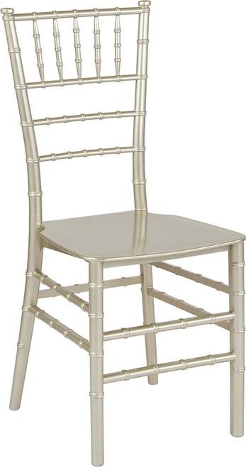 TYCOON Series Champagne Resin Stacking Chiavari Chair