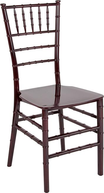 TYCOON Series Mahogany Resin Stacking Chiavari Chair