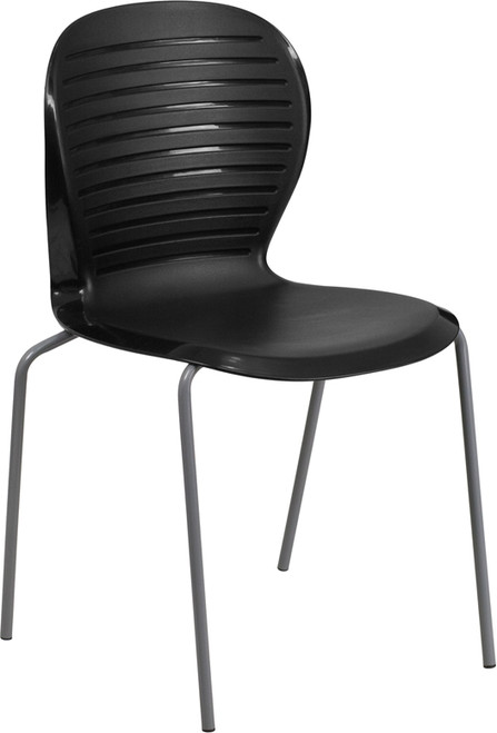 TYCOON Series 551 lb. Capacity Black Stack Chair