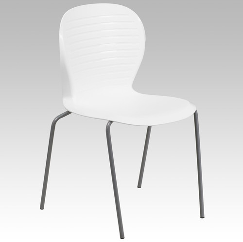 TYCOON Series 551 lb. Capacity White Stack Chair