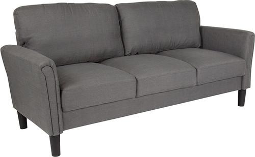 Bari Upholstered Sofa in Dark Gray Fabric