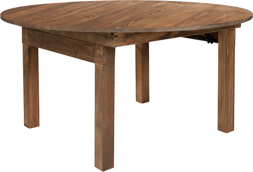 TYCOON Series Round Dining Table   Farm Inspired, Rustic & Antique Pine Dining Room Table
