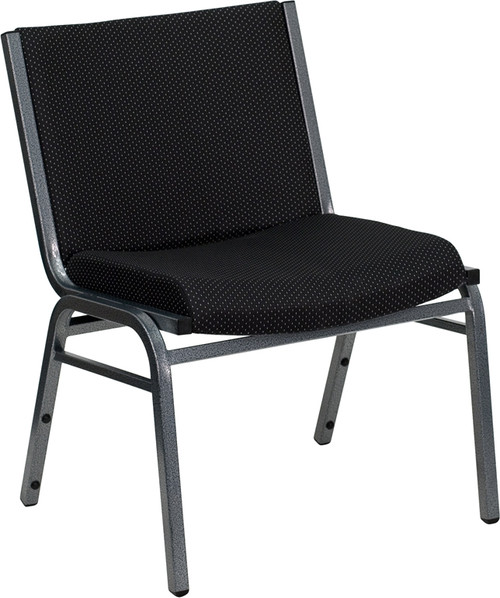 TYCOON Series Big & Tall 1000 lb. Rated Black Fabric Stack Chair