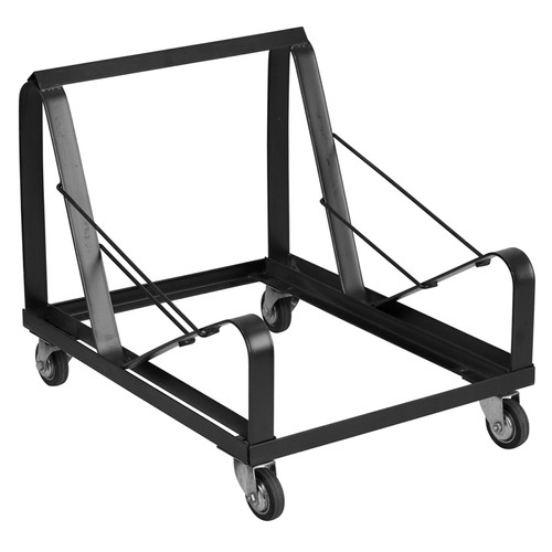 TYCOON Series Black Steel Sled Base Stack Chair Dolly