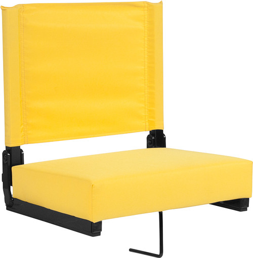 Grandstand Comfort Seats by Flash with Ultra-Padded Seat in Yellow