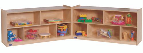 """24""""H Single Toddler 2-Shelf Fold-N-Lock Mobile Storage"""