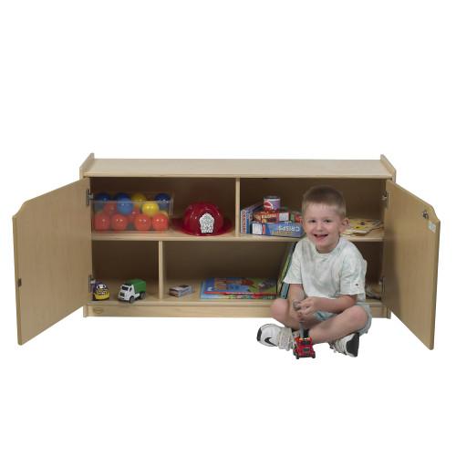 "24""H 2-Shelf Storage with Doors"