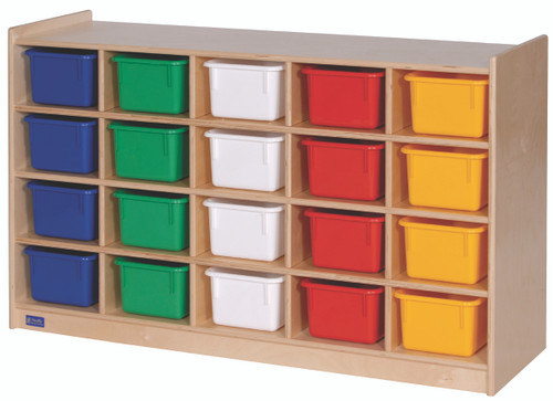 20-Tray Cubicle with Multi-Colored Trays