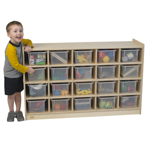 20-Tray Cubicle with Opaque Trays