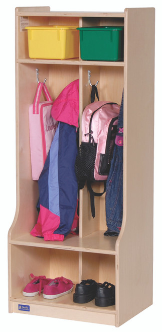 2-Section Locker with Seat/Step