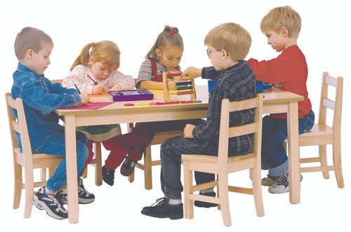 "24"" x 36"" Rectangular Laminate Top Classroom Table with 20"" Legs"
