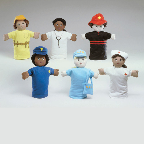 """9"""" Career Hand Puppets - Set of 6"""