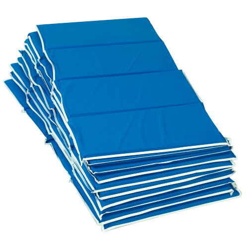 "1"" Tough Duty Folding Rest Mat - Blue 10 Pack"