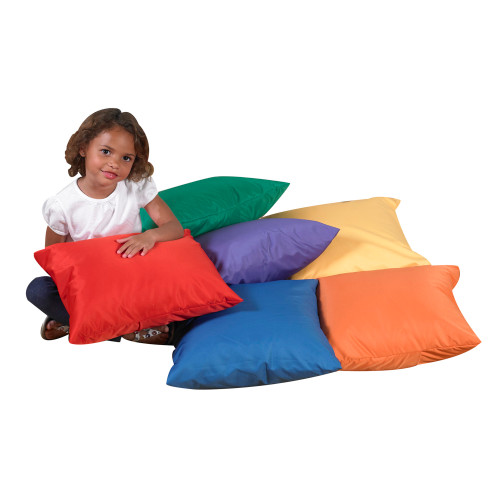 "17"" Cozy Pillows - Primary Set of 6"