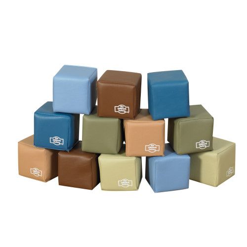 Baby Blocks in Woodland Colors - Set of 12